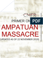 Ampatuan, Maguindanao Massacre Primer (Updated November 21, 2018)