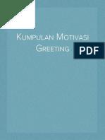 Kumpulan Motivasi Greeting Kantor