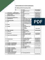 Daftar Narasumber Dan Materi Bimbingan