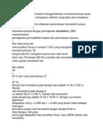 Peningkatan Nilai Hematokrit Menggambarkan Hemokonsentrasi Selalu