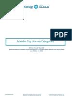 Masdar License Categories v01012013