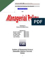 Alfalah Managerial Policy/Strategic Management
