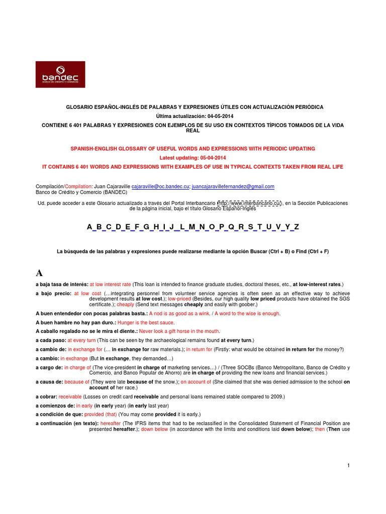 Glosario Español-Ingles de Palabras y Expresiones _04 05 2014 ...