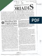 Castoriadis, Cornelius - Imaginación y Reflexión