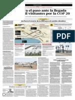 Lima Apresura El Paso Ante La Llegada de Unos 12 Mil Visitantes Por La COP 20