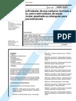 NBR 08261 - 1983 - Perfil Tubular de Aço-Carbono Formado a F