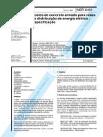 NBR 08451 - 1998 - Postes de Concreto Armado Para Redes de D