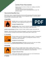 Hazardous Waste Characteristics