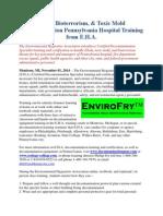 Ebola, Bioterrorism, & Toxic Mold Decontamination Pennsylvania Hospital Training from E.H.A.