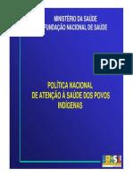 Política Nacional de Atençao a Saude Dos Povos Indigenas Brasil