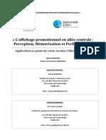 L'affichage promotionnel en allée centrale - Perception, Mémorisation et Performance.pdf