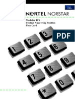Norstar Meridian Modular ICS Central Answering Position CAP Manual