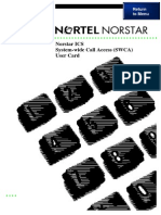 Nortel Ics System-Wide Call Access User Card