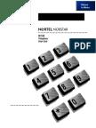 Nortel M 7208 Telephone User Card