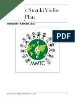 Suzuki Violin 12-Week Lesson Plan KC-MMTC