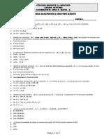 examen de admisión octavo grado