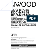 Manual Radio CD kdcmp145