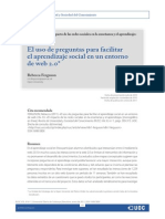 Preguntas Para Facilitar el aprendizaje social
