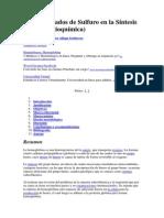 Conglomerados de Sulfuro en La Síntesis Del Hem