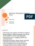 National publishing company case analysis
