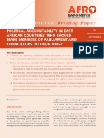 POLITICAL ACCOUNTABILITY IN EAST AFRICAN COUNTRIES