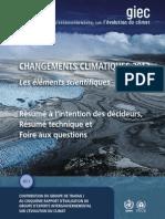 Changements climatiques 2013 (GIEC)