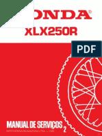 XLX250R - Manual de Serviço