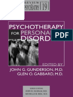 Psychotherapy for Personality Disorders - Gunderson Gabbard