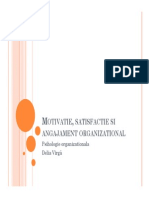 Motivatie, Satisfactie Si Angajament Organizational
