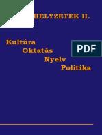 Határhelyzetek II. - Kultúra, oktatás, nyelv, politika