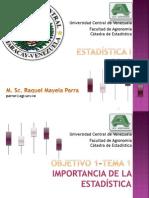 Importancia de la Estadística -RP TEMA 1 2013
