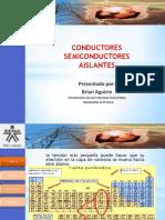 conductores,semiconductores,aislantes