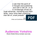 Audiences Yorkshire - MMM Exemplar Case Study