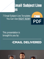 Email Subject Line Templates to Get Your Emails Opened