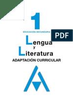 Adaptacion Curricular lengua 1 eso anaya