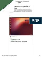 Cómo Configurar Un Servidor FTP en Ubuntu Linux