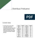 Tutorial Distribusi Frekuensi