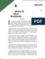 La Jornada_ Cómo Piensa La Clase Dominante