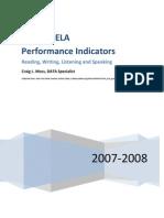 ELA Performance Indicators Grade 6