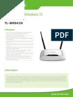 TL-WR841N V9 Datasheet