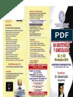Ecografía Doppler en Obstetricia y Ginecología 21 - 22 Noviembre 2014