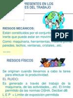 RIESGOS PRESENTES EN LOS AMBIENTES DEL TRABAJO