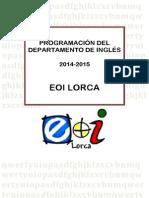 Programación INGLÉS 2014-15