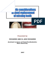 Esthetic Considerations in Fixed Replacement of Missing Teeth