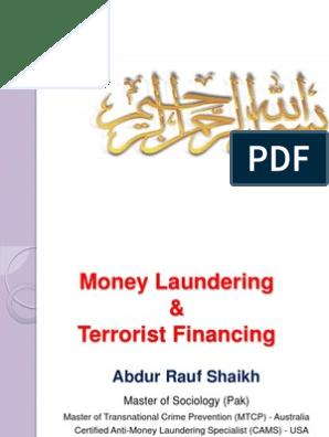 Method of Money laudering   Money Laundering   Cheque