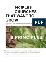 8 Principles for Churches That Want to Grow