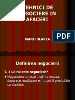 Tehnici de Negociere in Afaceri