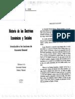 Historia de Las Doctrinas Económicas y Sociales