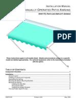 052876-005 Patio Awning Installation Manual