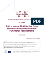 Im-d3.5 Instant Mobility Use Case Scenarios Functional and Non-functional Requirements v1.0